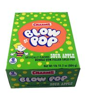 Charms Blow Pops Sour Apple 48 Count