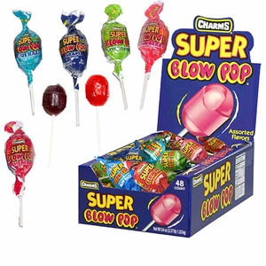 "Charms ""Super"" Blow Pops Assorted 48 Count"