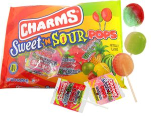 Charms Sweet & Sour Lollipops 9oz Bag (16 Count)