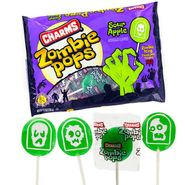 Charms Zombie Pops Sour Apple 9.35oz Bag