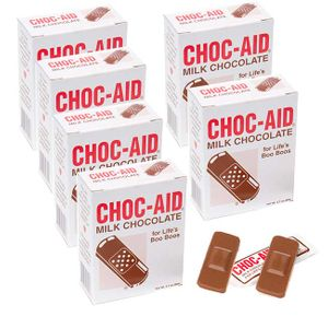 Chocolate Aid Chocolate Band-Aids 12 Count