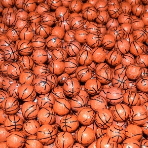 Chocolate Basketballs 30lb Made In The USA