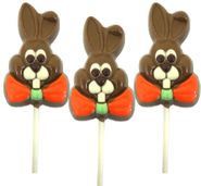 Chocolate Double Crisp Bunny Lollipop 3oz (One)