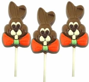 Chocolate Bunny Lollipop 3oz (One)