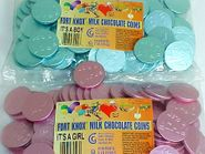 Chocolate Coins For Boy or Girl Announcement  1lb