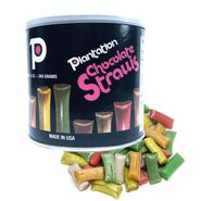 Chocolate Filled Straws 12oz Can