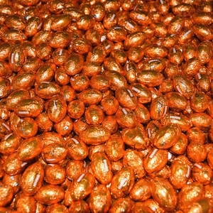 Chocolate Footballs 30lb (2,400) Bulk  Made In The USA
