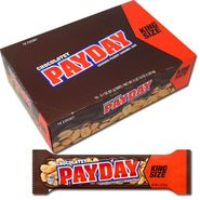 Chocolate Payday Bars King Size 18 Count