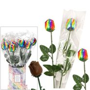 Chocolate Roses Rainbow Foil 20 Count