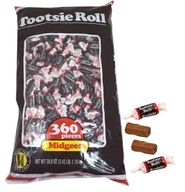 Chocolate Midgees Tootsie Rolls 360ct