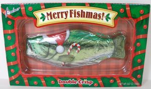 Christmas Chocolate Fish 3.67oz Merry Fishmas