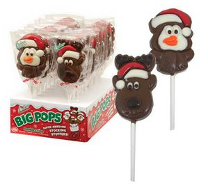 Christmas Chocolate Lollipops Big Pops 18 Count