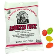 Claey's Assorted Fruit Hard Candies 6oz bag