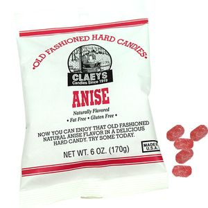Claey's Natural Anise Old Fashion Hard Candies 6oz Bag