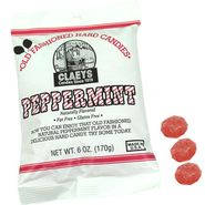 Claey's Natural Peppermint Old Fashion Hard Candies 6oz Bag