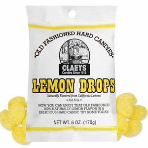 Claey's Sanded Lemon Hard Candies 6oz Bag