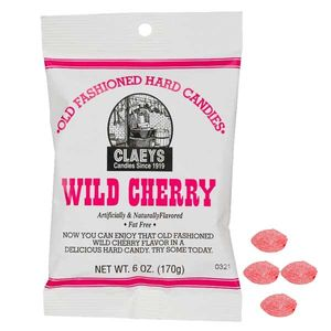 Claey's Wild Cherry Old Fashion Hard Candies 6oz Bag