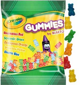 Crayola Candy Gummi Bears 3.5oz Bag