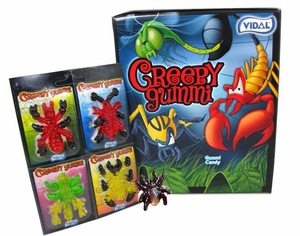 Creepy Gummy Candies 18 Count (72 Bugs)
