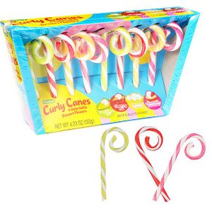 Curly Candy Canes 8 Count