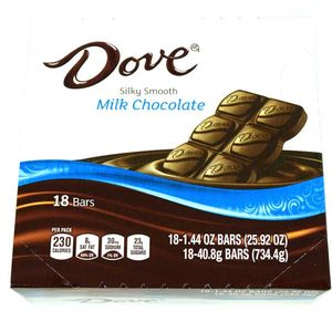 Dove Bar Milk Chocolate 18 Count
