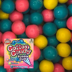 Dubble Bubble Cotton Candy Gumballs 850 Count Bulk