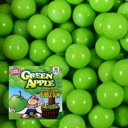 Dubble Bubble Green Apple Gumballs 850 Count Bulk