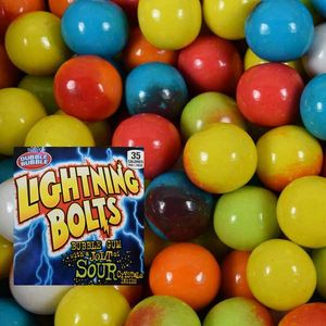 Dubble Bubble Lightning Bolt Gumballs 850 Count