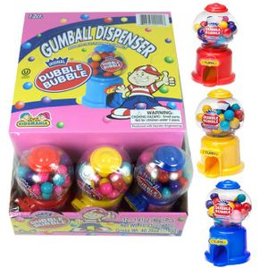 Dubble Bubble Mini Gumball Machines 12 Count