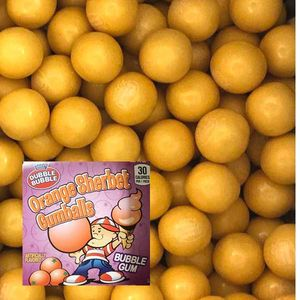 Dubble Bubble Orange Sherbet Gumballs 850 Count Bulk