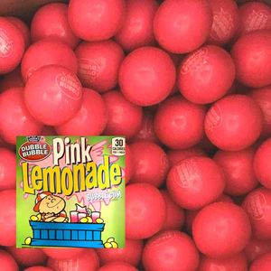 Dubble Bubble Pink Lemonade Gumballs 850 Count Bulk