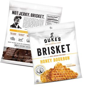 Dukes Honey Bourbon Steak Brisket Strips 2.5oz