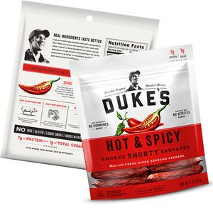 Dukes Hot & Spicy Sausages 5oz Bag