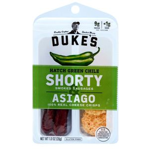 Dukes Shorty Hatch Green Chile Sausage & Asiago Crisps 12 Count