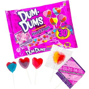 Dum Dum Heart Lollipops 30 Count