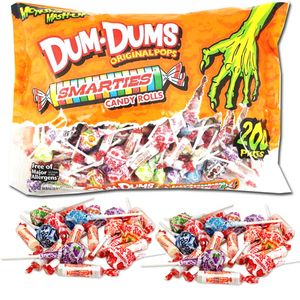Dum Dums & Smarties Monster Mix 200 Count Bag