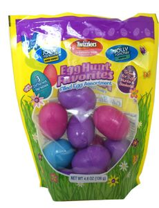 Easter Egg Hunt - Eggs Filled With Candy 12 Count (Twizzler-JollyRancher)