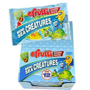 eFrutti Gummi Mini Sea Creatures 12 Count Share A Size