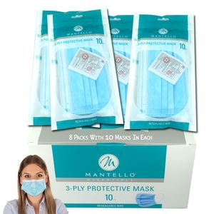 Face Masks Disposable 3 PLY  80 Count