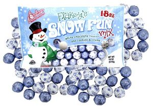 Flakeys Snowflake White Chocolate Balls 18oz Bag