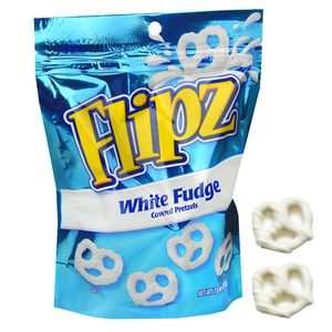 Flipz White Fudge Covered Pretzels 5oz Bag