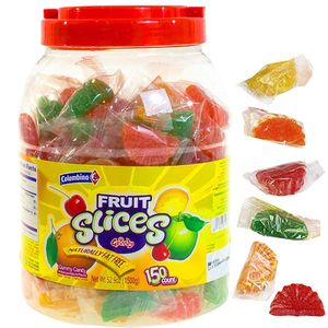 Fruit Slices Assorted Wrapped 150 Count