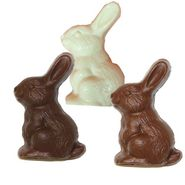 Gardner's Solid Chocolate Bunny Choose Milk-White-Dark