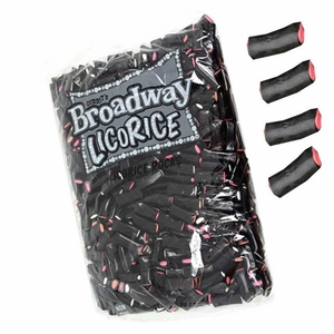 Gerrit Broadway Black Licorice Rock Sticks 4.4lb Bag