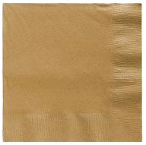 Gold Lunch Napkins 50 Count 3 Ply