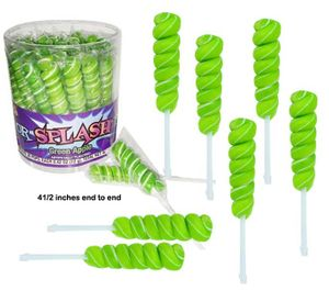 Green & White Color Lollipops 30 Count