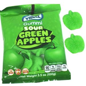 Gummi Sour Apples (Vidal)  3.5oz Bag