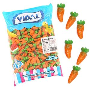 Gummi Candy Carrots 4.4lb Bag
