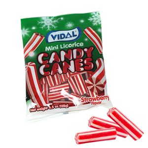 Gummi Licorice Candy Canes 4.5oz Bag