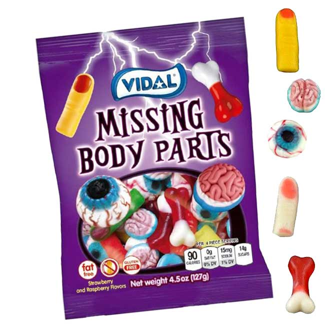 Missing Body Parts Gummies | Gummy Halloween Candy | BlairCandy.com